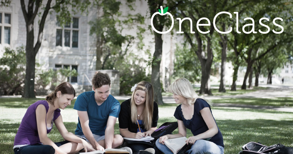 Here are students under the oneclass blog logo.